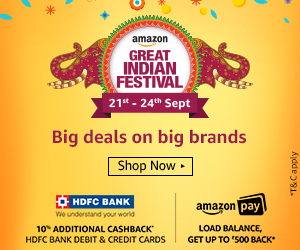 Amazon Today's Deals:Mobile & Fashion Offers[24th-26th Jan 2017]