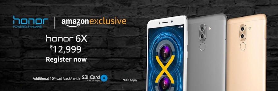 Amazon honor 6x exclusive