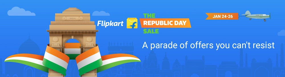 Flipkart Republic Day Sale:Mobile & Fashion Offers[24th-26th Jan 2017]