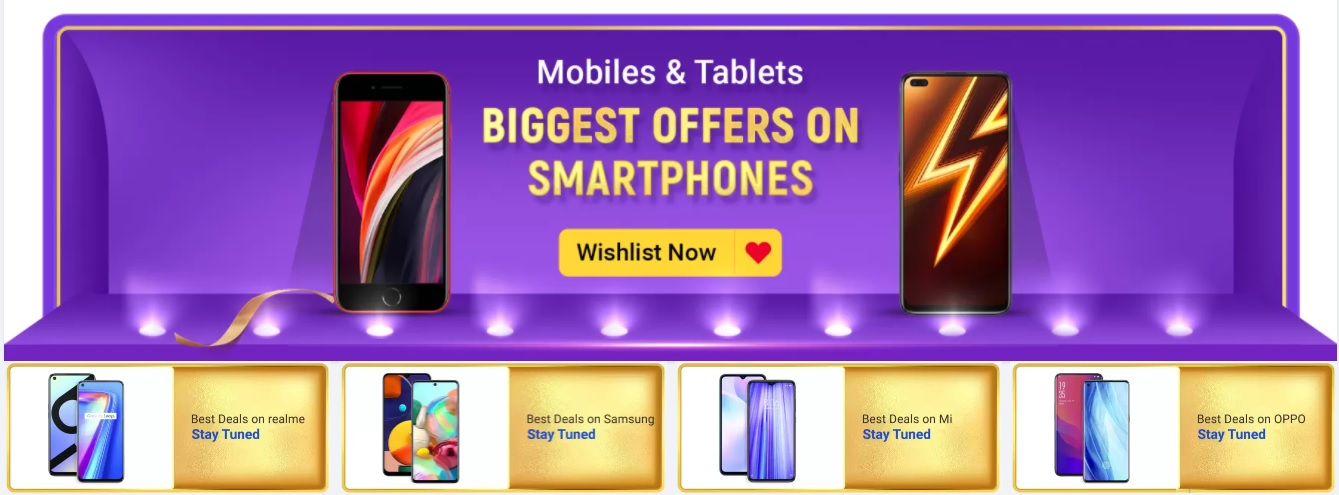 Flipkart Big Billion Days Sale 2020 Offers List 16th-21st October: 90% Off Festive Mobile Deals+SBI Cards Discount