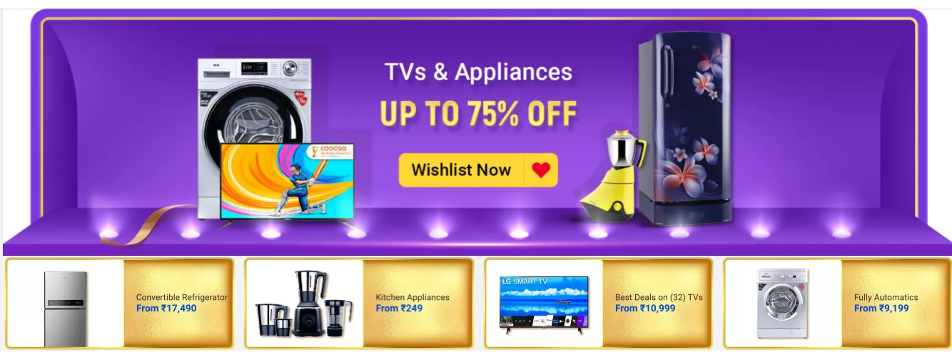 Big Billion Days TVs Offers