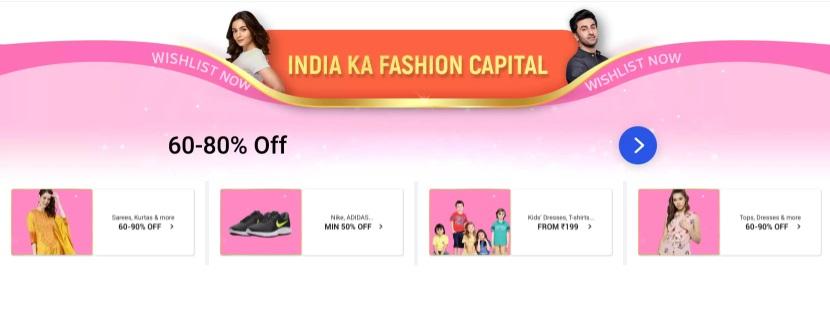 Big Billion Days Fashion Offers