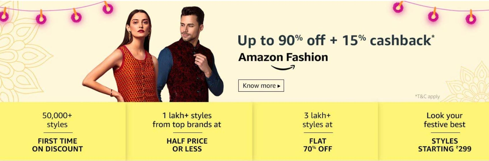Amazon Diwali Sale Offers on Fashion