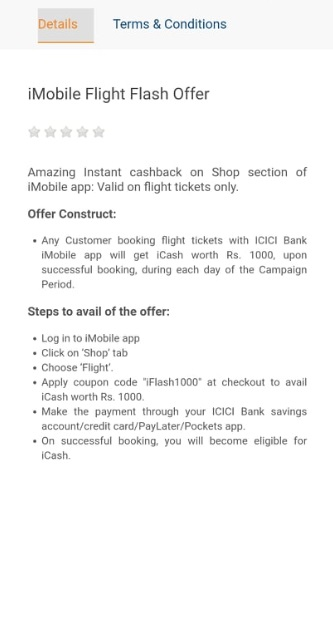 imobile flash offer