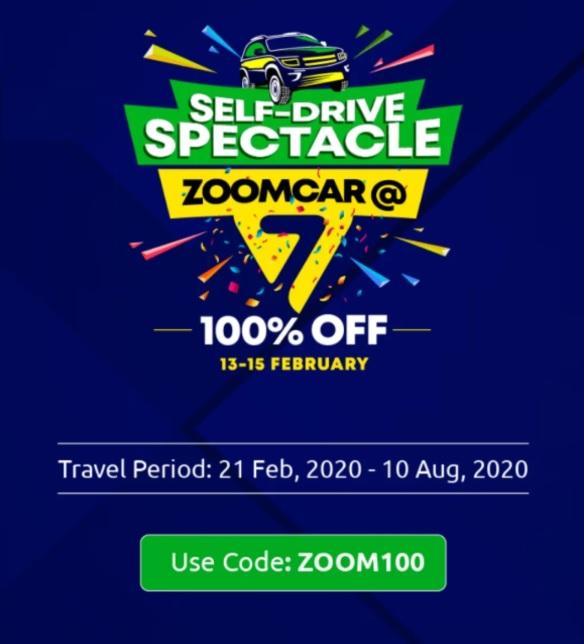 Zoomcar Anniversary sale
