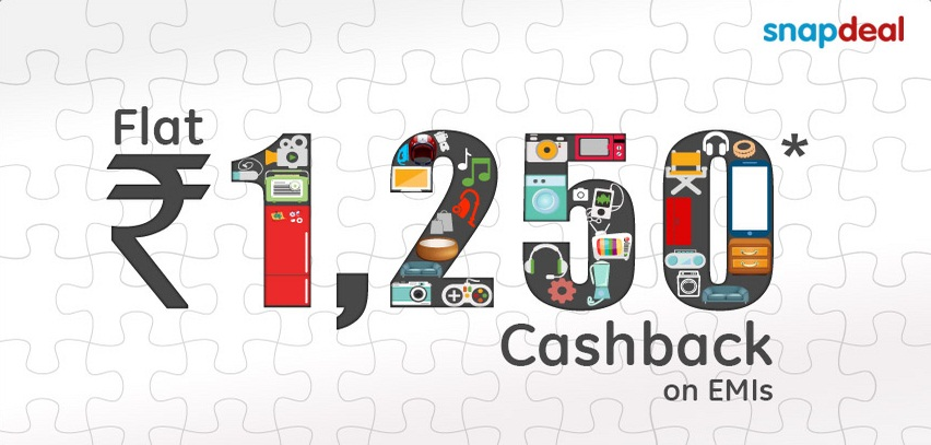 c22192e8d Pay EMI Using Sbi Card At Snapdeal And Get Rs. 1250 Cashback