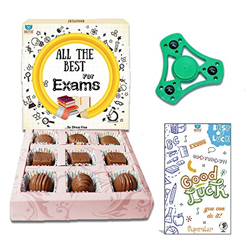 Buy Bogatchi All The Best For Exam Chocolates 90g And Free Hand Spinner With Greeting Card At Rs 85 From Amazon