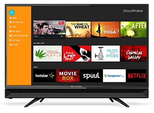 buy cloudwalker 80 cm 32 inches 4k ready smart hd ready led tv 32shx2 black from rs 12990 at. Black Bedroom Furniture Sets. Home Design Ideas