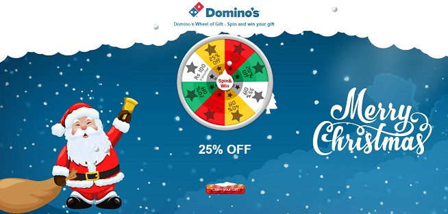 Dominos Spin & Win Christmas Offer: Spin The Wheel And Get Free ...