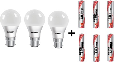 India Desire : Buy Eveready 10W LED Bulb Pack of 2 with Free 4 Batteries At Rs 159 From Flipkart  [MRP Rs 398]