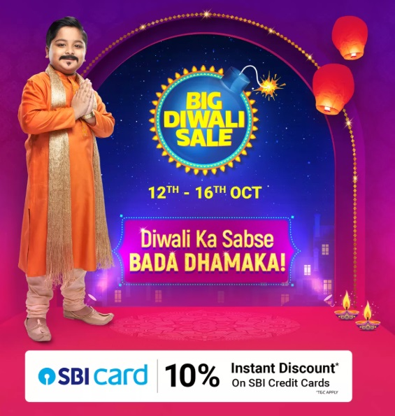 India Desire : Flipkart Big Diwali Sale 2019 Offers List 12th To 16th October: 90% Off Festive Mobile Deals