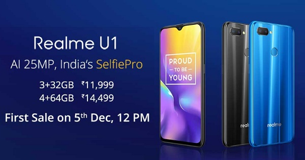 Realme U1 Amazon Next Sale Date 2nd Jan 12pm Price Starts Rs