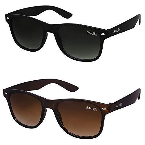 7b1c137652 Buy Silver Kartz Combo of 2 Wayfarer Unisex Sunglasses at Rs. 99 from Amazon
