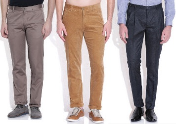 05e38bf285d Snapdeal Trousers Offer   Upto 80% Off On Men s Trousers   Chino From Rs  299 Only