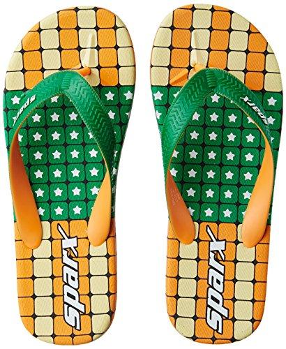 Buy Sparx Mens Green And Orange Flip Flops Thong Sandals -9940