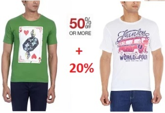 88995f6d37 Amazon Has Come Up With Great Offer on Clothing Where Users Can Get Upto 80%  Off On Mens Branded T-Shirts From Rs 122 Starting Price Only.