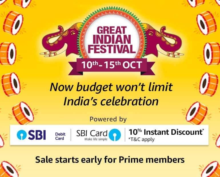 India Desire :  Amazon Great Indian Festival Sale October 2016 : Best Offers On Mobiles + 10% Extra HDFC Cashback