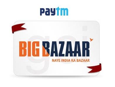 541cfaa68f India Desire   Paytm Big Bazaar Gift Card Offer   Get 10% Cashback on  Purchase
