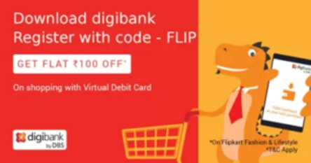 Get Rs 200 Cashback On Rs 250 At Flipkart Via Digibank ...