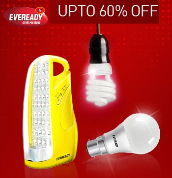 71041595b Get Upto 60% Off On Eveready Emergency Lights   LED Bulbs From Snapdeal  Offer