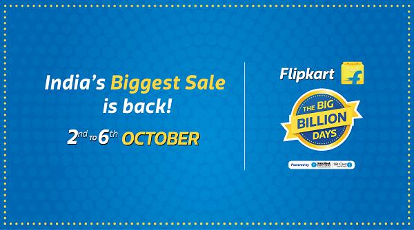 392a261ff Simpleic  Flipkart Big Billion Days Sale Offer List 2nd To 6th ...
