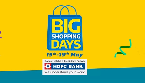OnlineRaho : Flipkart Big Shopping Days Offers List 13th-16th May 2018: 90% Off Mobile Deals+ 10% HDFC Card Discount