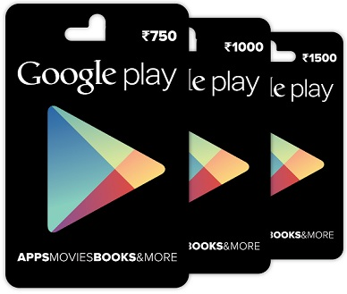 Google Play Gift Card Recharge Offer : Rs 25 Cashback On Rs 100 @Paytm