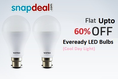 ee52f291e India Desire   Snapdeal LED Bulbs Offer   Buy Eveready 9W Pack of 3 LED Bulb