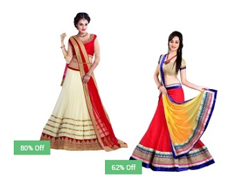 a564d8bebad Snapdeal- Lehengas Upto 89% Off From Rs. 498