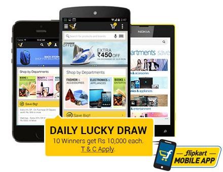 Daily Lucky Draw of Rs 1,00,000 @ Flipkart