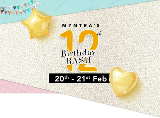 bd8824c347 Myntra 12th Birthday Bash: Get Upto 80% Off On Top Brands Fashion + Extra  10% Off With ICICI Bank Card