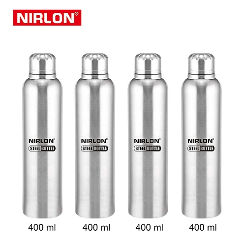 4ddd135e7 Buy Nirlon Stainless Steel Water Bottle Silver 1000ml (3-Pieces) at Rs. 665  from Amazon  Selling Price Rs 795