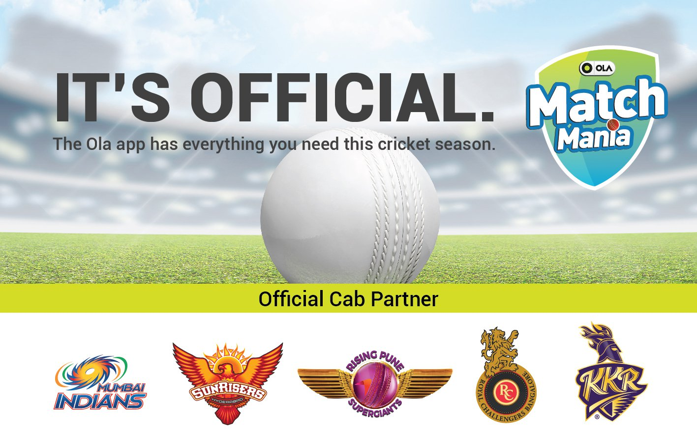 Ola Match Mania Offer:[MATCH DAY] Get Free IPL Tickets