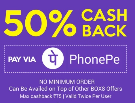 Box8 Coupons & Offers : Get 100% Cashback On Box8 Order