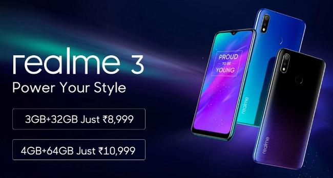 0dce41499 RealMe 3 Flipkart Price Rs 8999  Buy In Open Sale