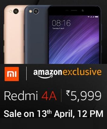 Live Redmi 4a Amazon Next Sale 7th Dec 12 Pm At Rs