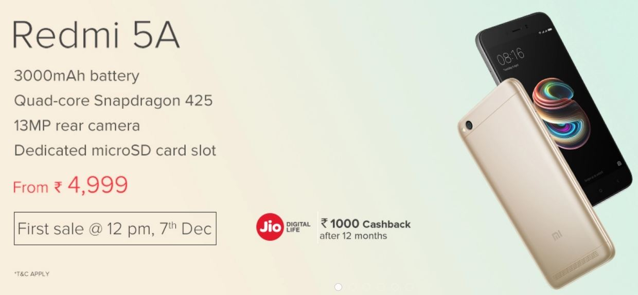 f7438bcbdc4 India Desire   Redmi 5A Price Flipkart Starting   Rs. 5999 Only  Next Sale