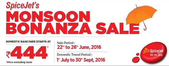 Spicejet Monsoon Sale: Fares Starting From Rs 444