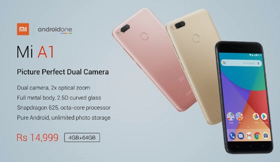 Xiaomi Mi A1 Flipkart Price @Rs 12999 : Next Sale Live