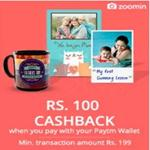 India Desire : Paytm Zoomin offer: Get Max Cashback Of Rs. 100 On Minimum Order Value Of Rs 199 On Zoomin App