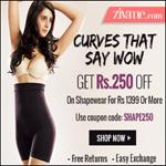 India Desire : Get Rs 250 Off On Shapewear At Zivame