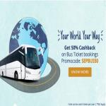 India Desire : Paytm Bus Booking 50% Cashback Offer: Get Flat 50% Off On Rs. 200 Bus ticket booking Through Paytm-Use Paytm Code SEPBUS50