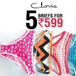 India Desire : Clovia Panties Offers : Buy 5 Panties At Rs 599 Only From Clovia