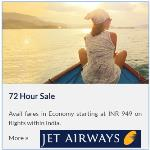 India Desire : Jet Airways 72 Hours Sale : Book Domestic Flight Tickets From Rs 949 Fares