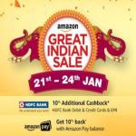 India Desire : Amazon Great Indian Sale Offers 21st-24th January 2018: 70% Off Republic Day Offers+ Mobile Deals