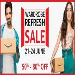 India Desire : Amazon Wardrobe Refresh Sale: Upto 80% Off + Extra 15% Cashback On Clothing & Fashion Wear [21st To 24th June]
