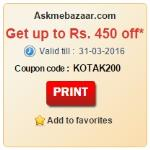 India Desire : Askmebazaar Kotak Bank Offer: Get Rs. 200 Off On Rs. 500 And Rs. 450 Off On Rs. 1000 Using Kotak Bank Cards