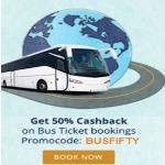 India Desire : Get 50% Cashback On Bus Ticket Booking From Paytm [BUSFIFTY]