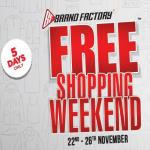 India Desire : Brand Factory Free Shopping Weekend Sale 22nd to 26th Nov: Shop Worth Rs 5000 For Effectively Free