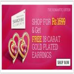 India Desire : Clovia Romantic Offer: Shop For Rs. 1699 And Get 18 Carat Gold Platted Earrings Free From Clovia